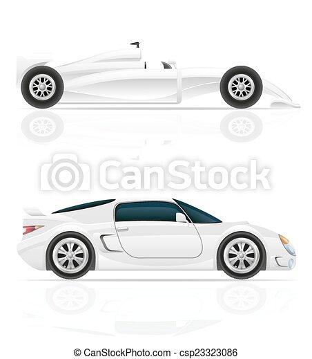 automobile, vettore, sport, illustrazione - csp23323086