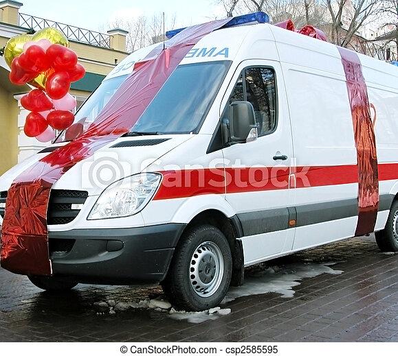 automobilen, ambulance - csp2585595
