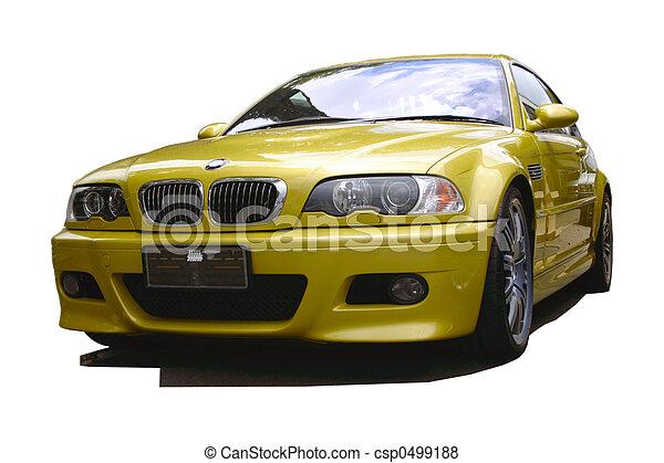 automobilen, guld, sport - csp0499188