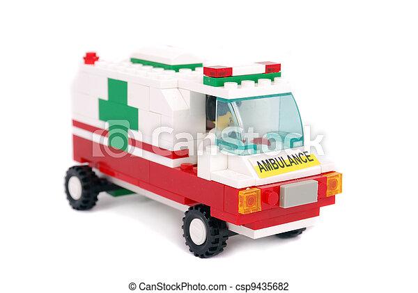 automobilen, nødsituation, ambulance - csp9435682
