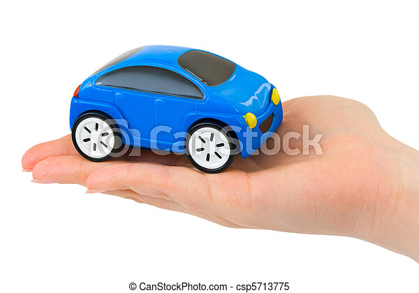 automobilen, stykke legetøj, hånd - csp5713775
