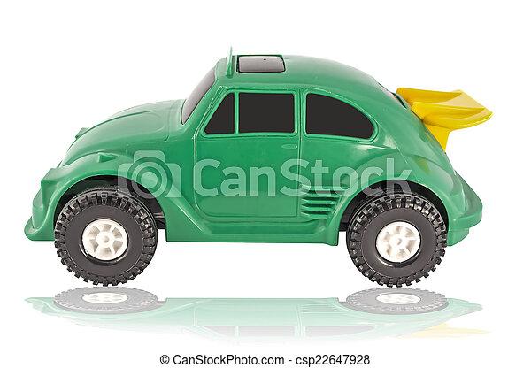 automobilen, stykke legetøj - csp22647928