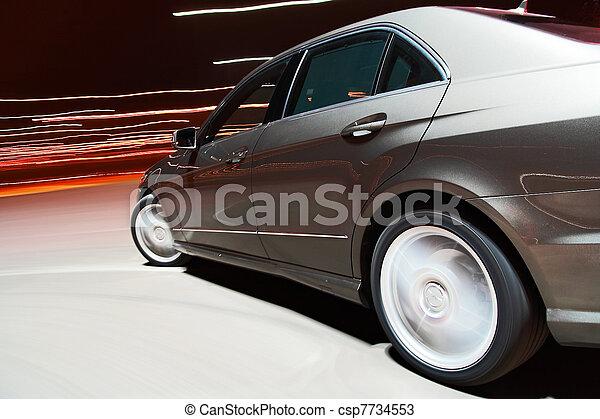automobilen, udsigter, faste, kørende, side - csp7734553