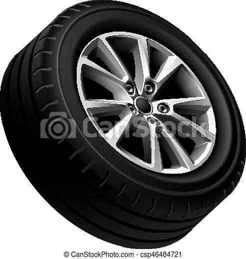 Automobiles alloy wheel isolated - csp46484721