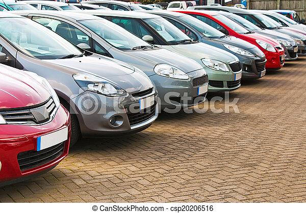 automobili, differente, usato, fila - csp20206516