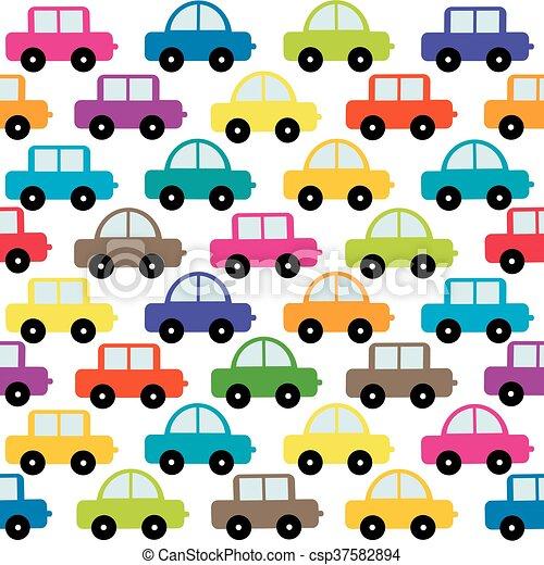 automobili, giocattolo, fondo - csp37582894