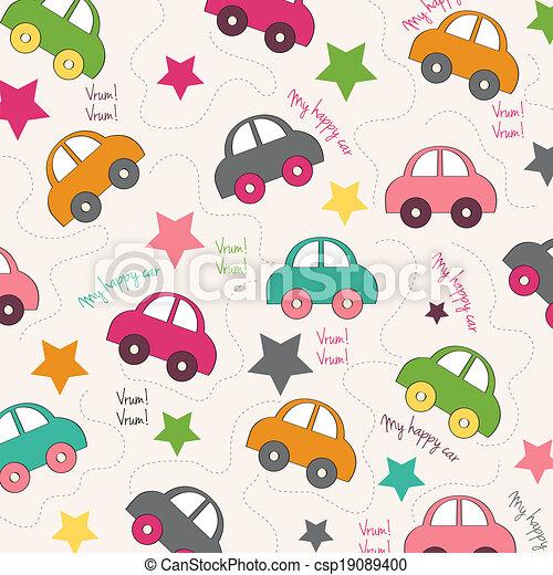 automobili, seamless, fondo - csp19089400