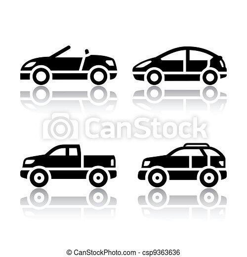 automobili, set, -, trasporto, icone - csp9363636