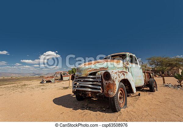 automobili, solitario, africa, abbandonato, namibia - csp63508976