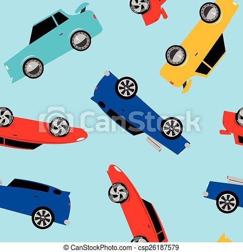 automobili, strada, da corsa, seamless, modello - csp26187579