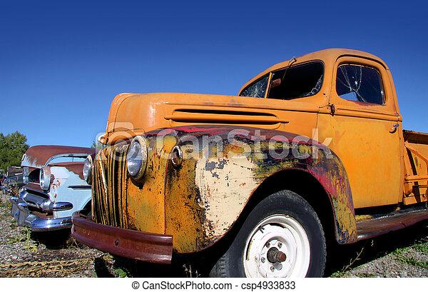 automobili, vecchio, abbandonato - csp4933833