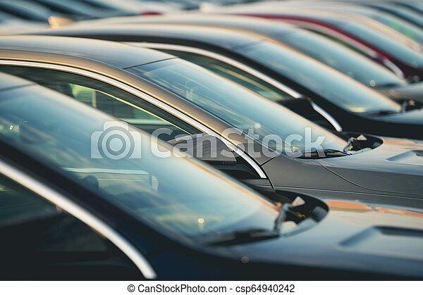 Automotive Dealership New Cars - csp64940242
