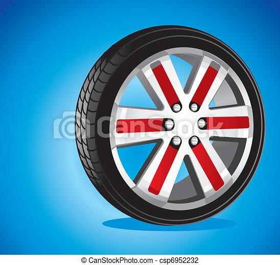 automotive wheel  - csp6952232
