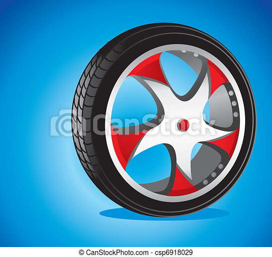 automotive wheel with alloy wheels and low profile tires  - csp6918029