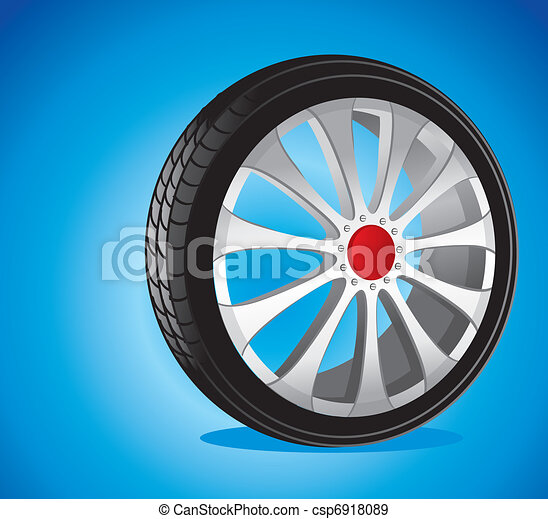 automotive wheel with alloy wheels and low profile tires  - csp6918089