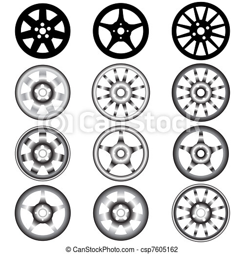automotive wheel with alloy wheels  - csp7605162