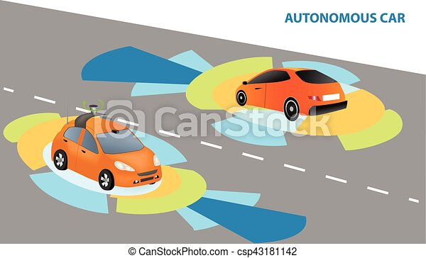 Autonomous Driverless Car - csp43181142
