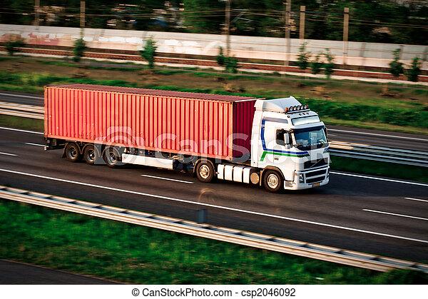 autoroute, camion, fret - csp2046092