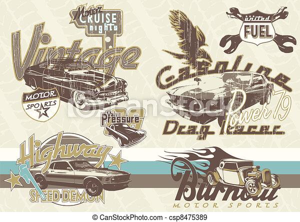 auto's, sportende, oud - csp8475389