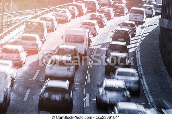 autos, stauung - csp23861841