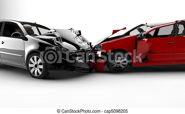 Unfall mit zwei Autos - csp5098205