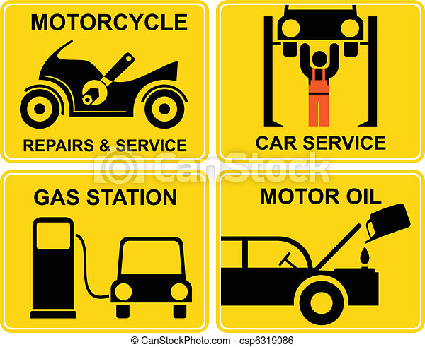 Autoservice, motorcycle repairs - csp6319086