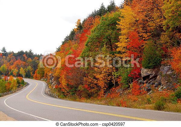 autostrada, cadere - csp0420597