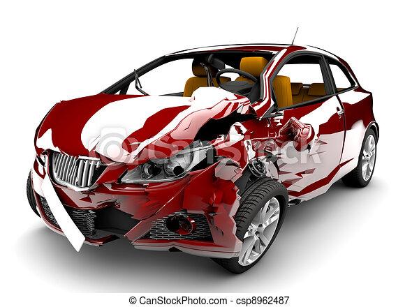 autounfall, rotes  - csp8962487