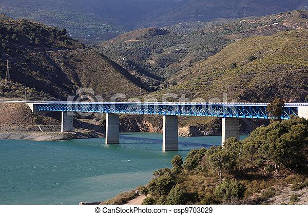 autovia, ponte, nevada, espanha, sierra - csp9703029