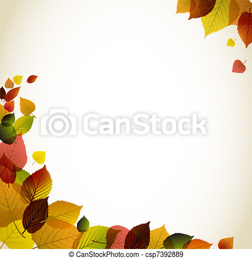 Autumn abstract floral background  - csp7392889