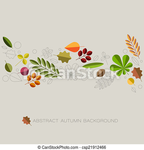 Autumn abstract floral background with place for your text - csp21912466