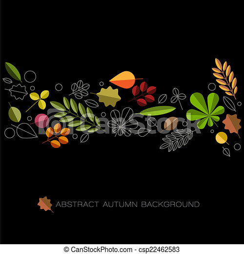Autumn abstract floral background with place for your text - csp22462583