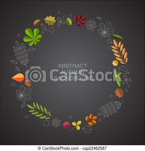Autumn abstract floral background with place for your text - csp22462587