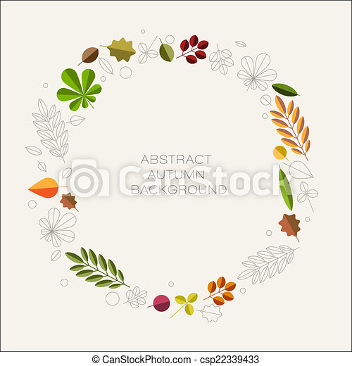 Autumn abstract floral background with place for your text - csp22339433