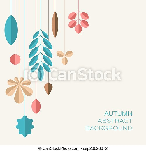 Autumn abstract floral background with place for your text - csp28828872