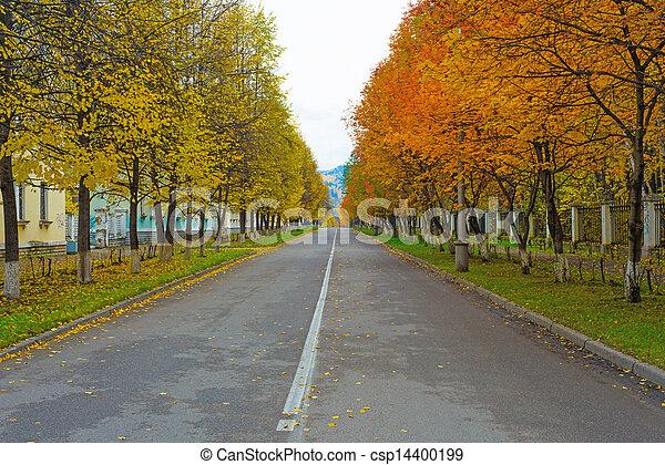 Autumn alley - csp14400199