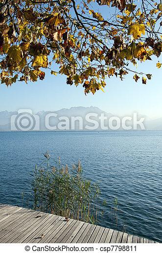 Autumn at Annecy lake - csp7798811