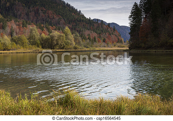 """Autumn at lake """"Mittersee"""" in Bavaria, Germany - csp16564545"""