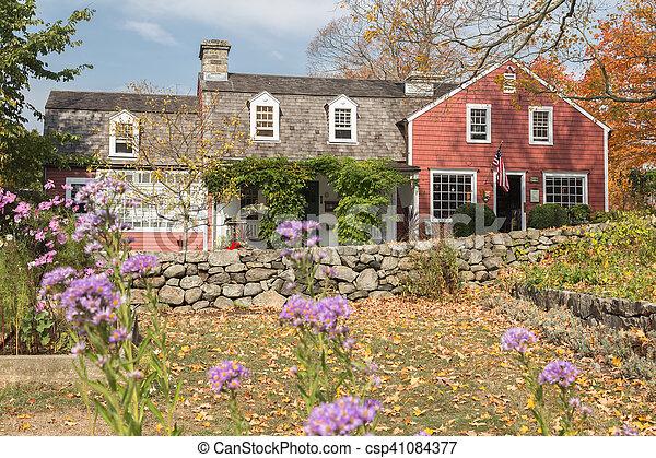 Autumn at Weir Farm - csp41084377