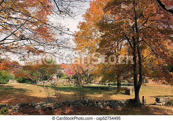 Autumn at Weir Farm - csp52754495
