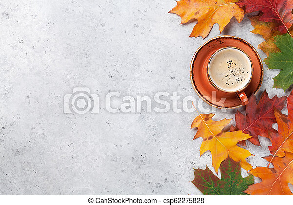 Autumn backdrop with colorful leaves - csp62275828