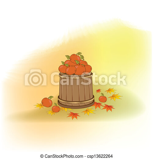 autumn background - csp13622264