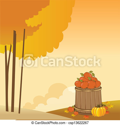 autumn background - csp13622267