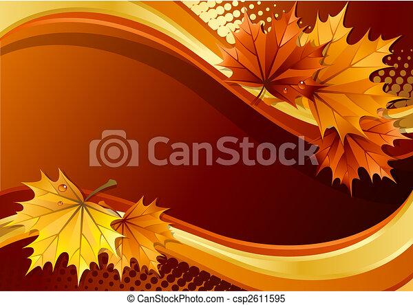 Autumn background - csp2611595