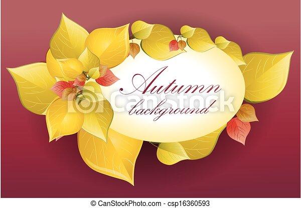 Autumn background - csp16360593