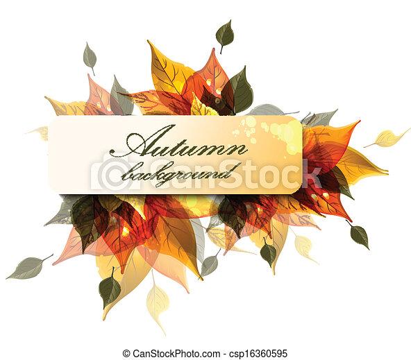 Autumn background - csp16360595