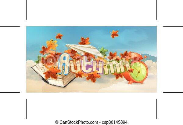 Autumn background  - csp30145894