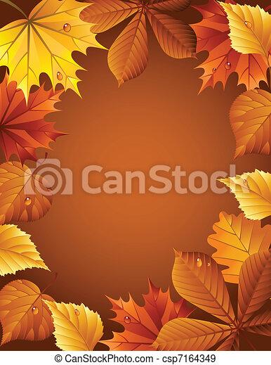 Autumn background - csp7164349