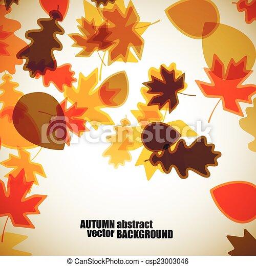 autumn background - csp23003046