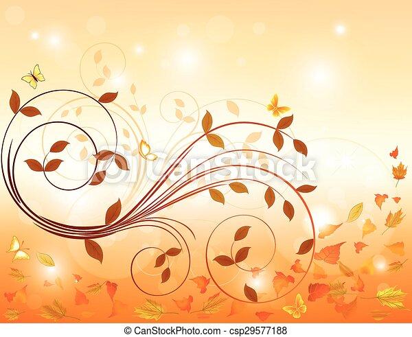 Autumn background  - csp29577188